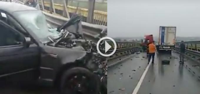 VIDEO: Accident pe DN1 la ieșirea din Turda spre Alba. Traficul a fost blocat 2 ore