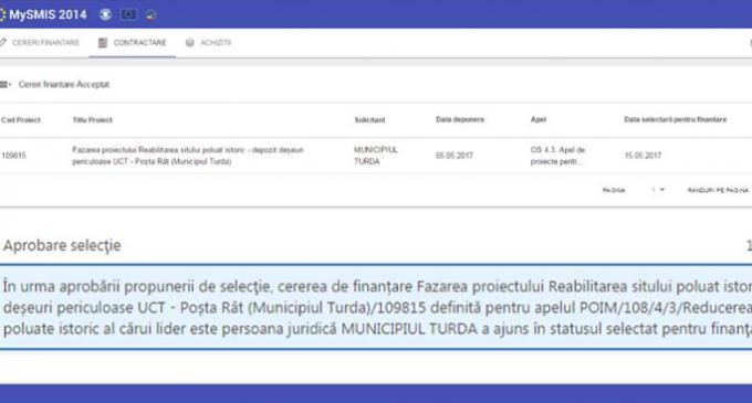 Proiectul de reabilitare a sitului poluat istoric – depozit deșeuri periculoase UCT – Poșta Rât (Municipiul Turda) a fost selectat pentru finanțare!