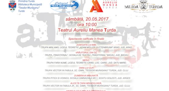 """Școala Teodor Murășanu organizează finala Festivalului de Teatru pentru elevi """"Alter Ego"""" la Teatrul """"Aureliu Manea"""" din Turda"""