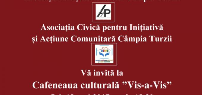 Un nou eveniment la cafeneaua culturală din Câmpia Turzii: