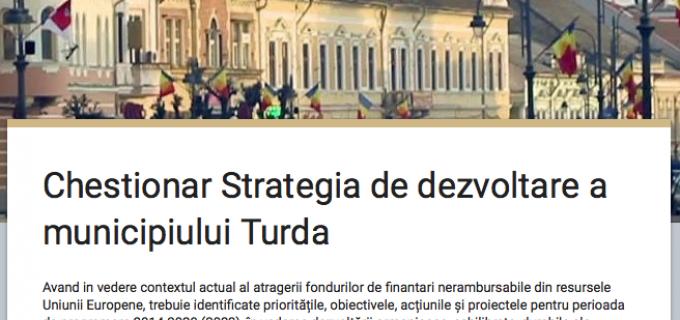 Chestionar Strategia de dezvoltare a municipiului Turda