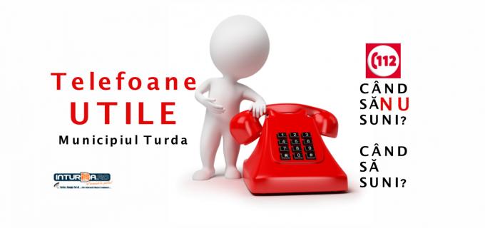 Telefoane UTILE – Turda. Când trebuie să suni la 112?