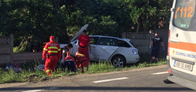 VIDEO: Accident teribil pe DN1 între Turda și Alba. Un copil de 13 ani a decedat în urma impactului