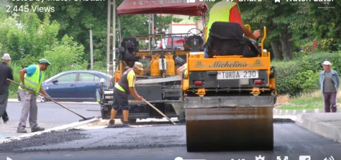 VIDEO: Lucrările în cartierul Micro 3 avansează. Strada Zorilor a fost deja asfaltată
