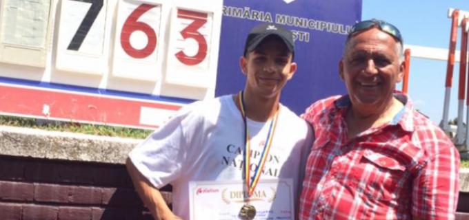Atletul turdean Samuel Bucșă, record national la campionatele de juniori