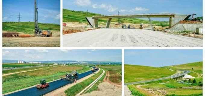 Video: Se asfaltează pe Autostrada Sebeș-Turda, lotul 4. Șanse mari de finalizare a tronsonului Aiud-Turda în 2017