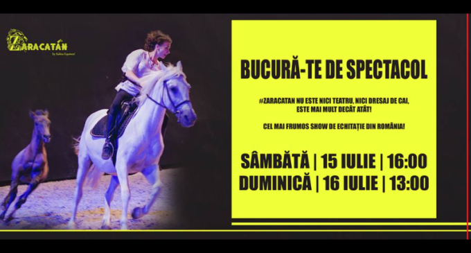 Cel mai frumos spectacol de echitatie din Romania revine în weekend, la Salina Equines, Turda, cu 2 reprezentații:
