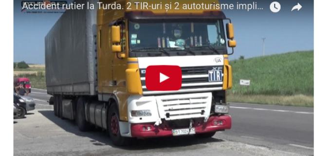UPDATE: IPJ Cluj despre accidentul de la intrarea în Turda pe DN1 E60