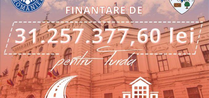 Administrația locală a reușit atragerea celor mai importante fonduri guvernamentale din istoria Turzii!