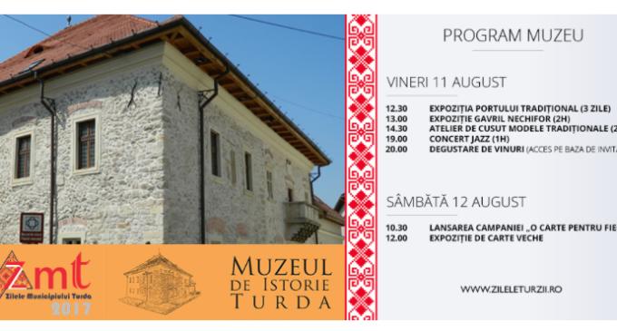 Evenimente de exceptie la Muzeul de Istorie Turda în cadrul ZMT2017! Vezi aici programul COMPLET