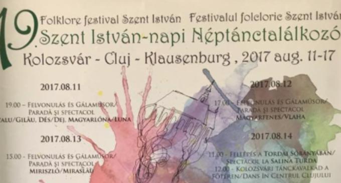 Salina Turda va găzdui Festivalul Folcloric Szent Istvan