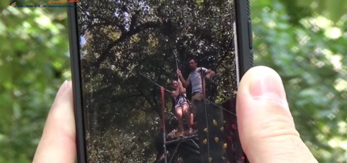 VIDEO: Astăzi este ultima zi în care poti proba TIROLIANA din Parcul Central