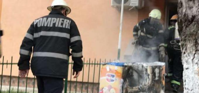 Foto: PLAN ROȘU de interventie în urma unui incendiu la Câmpia Turzii. 3 persoane au suferi atac de panică