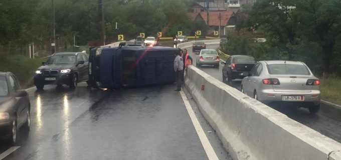 Accident la urcarea pe Feleac, înspre Turda