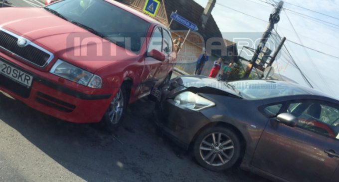 Foto: Accident rutier în comuna Tureni în această dimineață