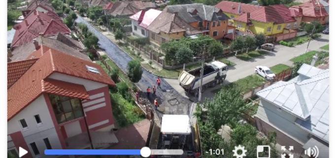 """VIDEO-Strada Liliacului a fost asfaltată. Matei Cristian: """"Vă asigur că nu ne vom opri! Vom face din Turda oraşul pe care ni-l dorim cu toții!"""""""
