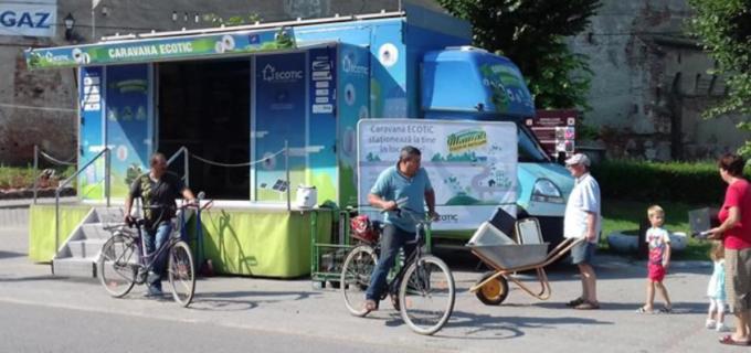 """Campania ECOTIC """"Stația de Reciclare"""" ia startul şi în Câmpia Turzii"""