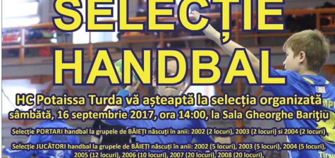 ACH Potaissa Turda organizează SELECȚIE la grupele de copii și juniori