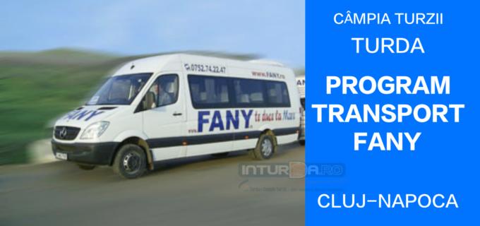 Program transport persoane FANY: Câmpia Turzii – TURDA – CLUJ