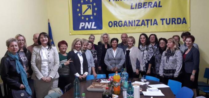 Rodica Rusu și Simion Dolha, noii președinți ai Organizațiilor de Femei și de Pensionari ale PNL Turda!