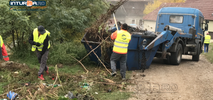 VIDEO/Foto: Primăria Municipiului Turda a început curățenia de toamnă!