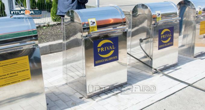 VIDEO/Foto: 4 baterii de pubele subterane au fost inaugurate astăzi în Piața Micro 1 și pe Calea Victoriei