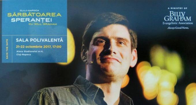 Will Graham vine la Sala Polivalentă din Cluj pentru a aduce mesajul speranței