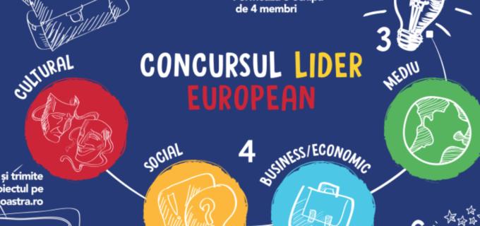 Au mai rămas cinci zile pentru înscrierea în concursul Lider European, dedicat elevilor de liceu din România