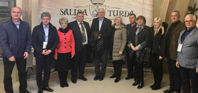 Preşedintele Rotary International, Ian Riseley, în vizită la Salina Turda