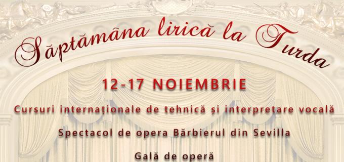 Săptămâna lirică la Turda – Gală de Operă cu soliști Internaționali și cursuri de interpretare vocală la Salina Turda