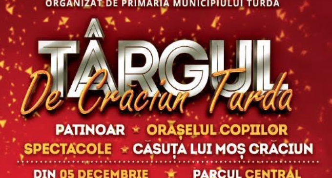 Programul complet al Târgului de Crăciun Turda din data de 5 decembrie