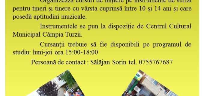 """Se fac înscrieri în Fanfara """"Promenada"""" din Câmpia Turzii. Cursurile sunt gratuite!"""