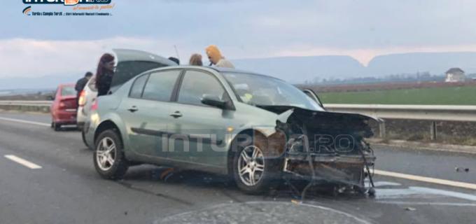 VIDEO:  Accident rutier pe Autostrada A3 între Câmpia Turzii și Turda