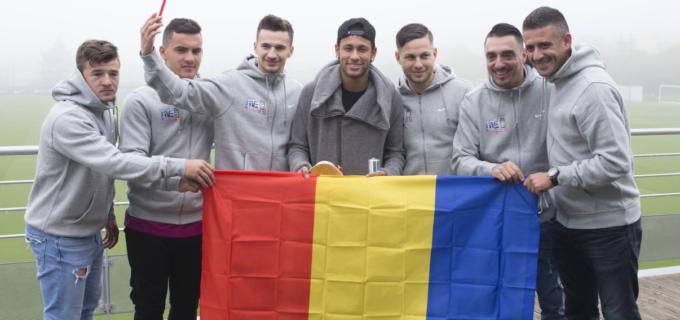 Echipa de aur a României l-a întâlnit pe Neymar Jr. la Paris
