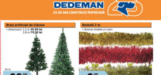 Dedeman a lansat noul catalog! Au apărut și decorațiunile de Crăciun: