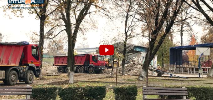 VIDEO: Clădirea din Parcul Central a fost demolată