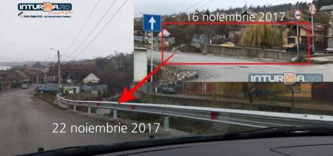 Foto: Administrația locală alături de cetățeni! Pe strada Aurel Vlaicu au fost montați parapeți metalici pentru siguranța conducătorilor auto
