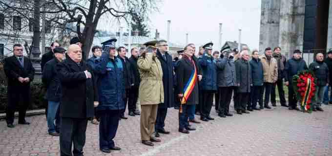 Foto/Video: Festivitate pentru cinstirea memoriei EROILOR REVOLUȚIEI Române din 22 decembrie 1989