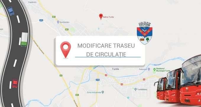 Modificare traseu de circulație pentru Linia 17 Micro 3 – Salina Durgău