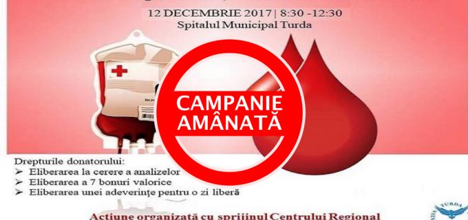 """Campania """"Dăruiește viață, donează sânge"""" se amână! Vezi aici comunicatul Asociației Turda Liberală:"""