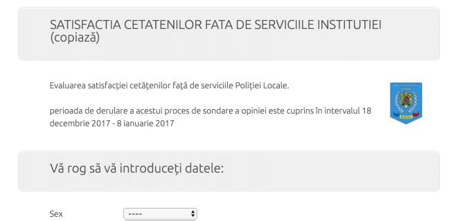 Poliția Locală Turda a lansat un chestionar pentru evaluarea gradului de satisfație a turdenilor cu privire la serviciile oferite