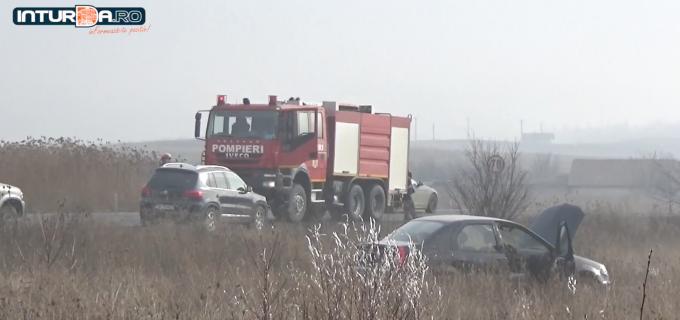 VIDEO: Accident la intrarea în Copăceni
