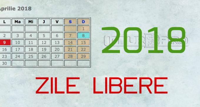 Câte zile libere vom avea în anul 2018? Vezi aici calendarul