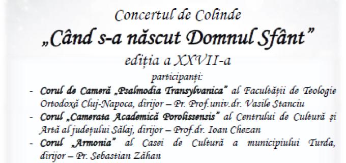 """Joi, 21 decembrie, la Câmpia Turzii: Concert de Colinde """"Când s-a născut Domnul Sfânt"""""""