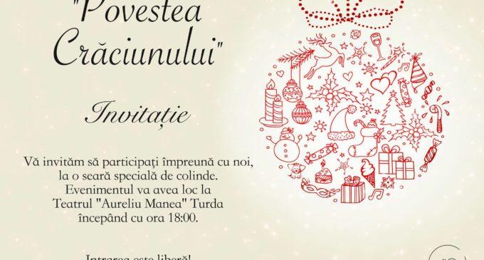 """INVITAȚIE – Concert de colinde la Teatrul """"Aureliu Manea"""" Turda"""