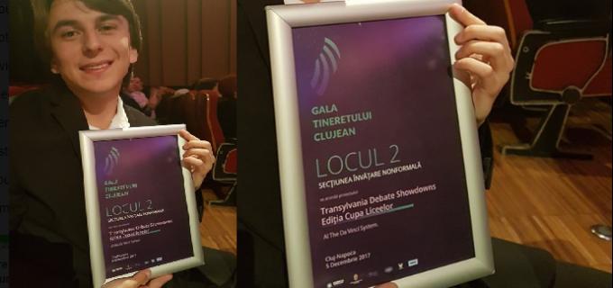 The Da Vinci System este singura organizație din afara municipiului Cluj-Napoca premiată la Gala Tineretului Clujean