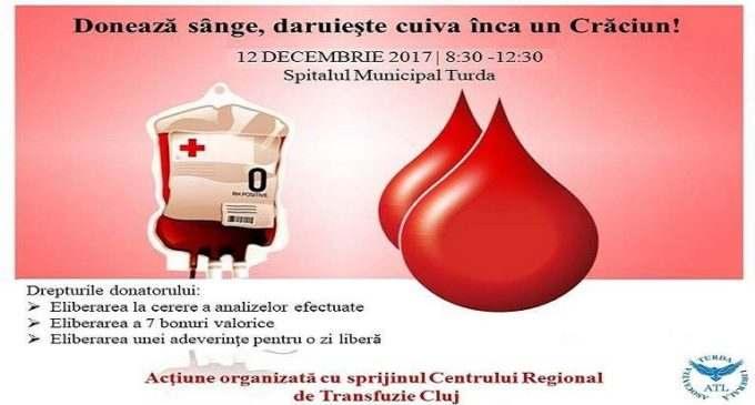 """Asociația Turda Liberală lansează proiectul """"Donează sânge, dăruiește cuiva încă un Crăciun!"""""""