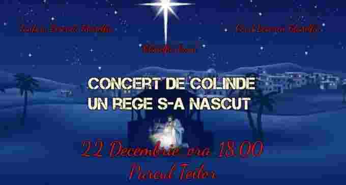 Concert de colinde in parcul Teilor din micro, susținut de Biserica Filadelfia Turda