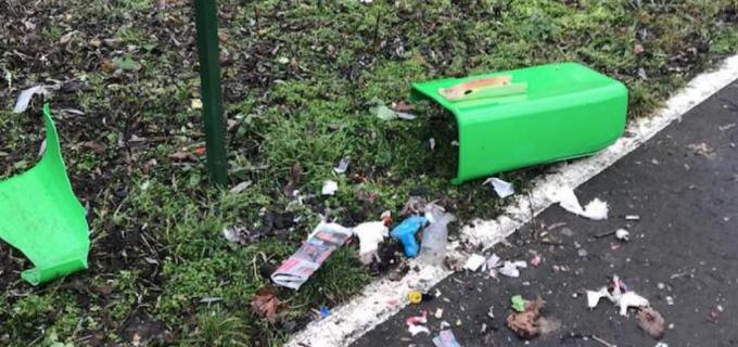 """FOTO: Primarul Dorin Lojigan ne prezintă imagini din parc și face o urare cetățenilor iresponsanbili: """"La mulți ani și minte multă!"""""""