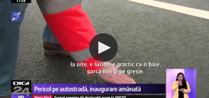 CNAIR: Pe autostrada Sebeș-Turda aluneci ca pe gresie!